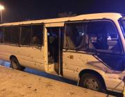 A Bahraini police bus came under attack near the Jidhafs area outside the capital Manama today, wounding several policemen, the interior ministry said on Twitter on 27 October 2017. [Khulood Salman/Twitter]