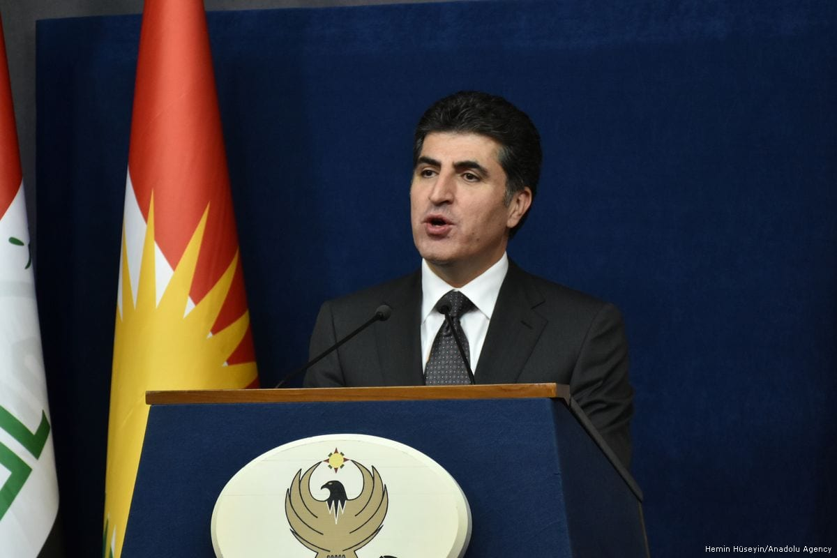 Prime Minister Nechirvan Barzani of the Kurdistan Regional Government of Iraqi Kurdistan [Hemin Hüseyin/Anadolu Agency]