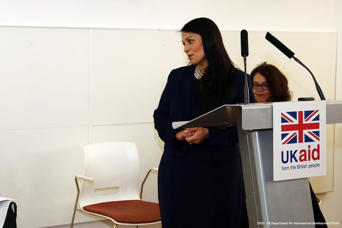 UK Home Secretary Priti Patel [DFID - UK Department for International Development/Flickr]