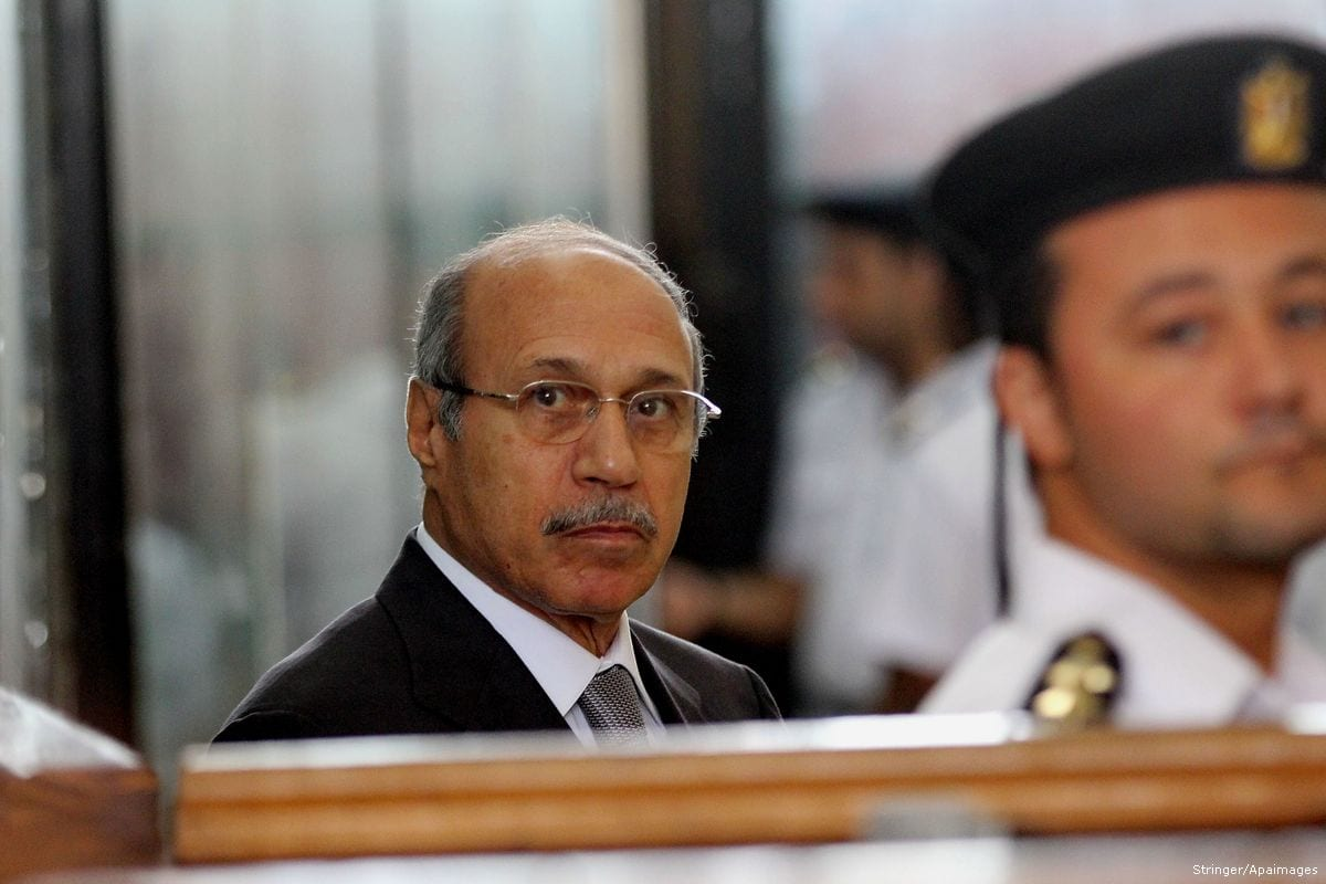 Former Egyptian interior minister Habib Al-Adly attends his trial on the charges of corruption, in Cairo, Egypt on 19 April 2016 [Stringer/Apaimages}