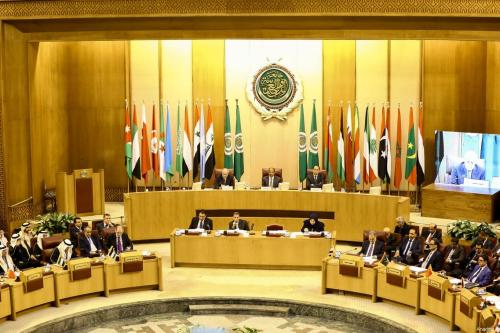 Arab League foreign ministers' emergency meeting in the Egyptian capital Cairo on 9 December 2017. The meeting is held to discuss repercussions of the US decision to officially recognise Jerusalem as Israel's capital. [Stringer/Anadolu Agency]