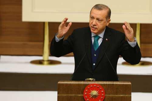 Turkish President Recep Tayyip Erdogan makes a speech during Turkish Academy of Science, TUBA, awards at Presidential complex in Ankara, Turkey on 12 December, 2017 [Halil Sağırkaya - Anadolu Agency]