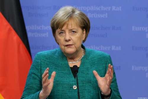 German Chancellor Angela Merkel in Brussels, Belgium [Dursun Aydemir/Anadolu Agency]