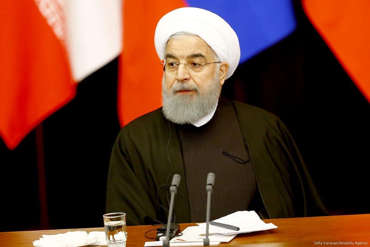 Iranian President Hassan Rouhani in Sochi, Russia on 22 November 2017 [Sefa Karacan/Anadolu Agency]