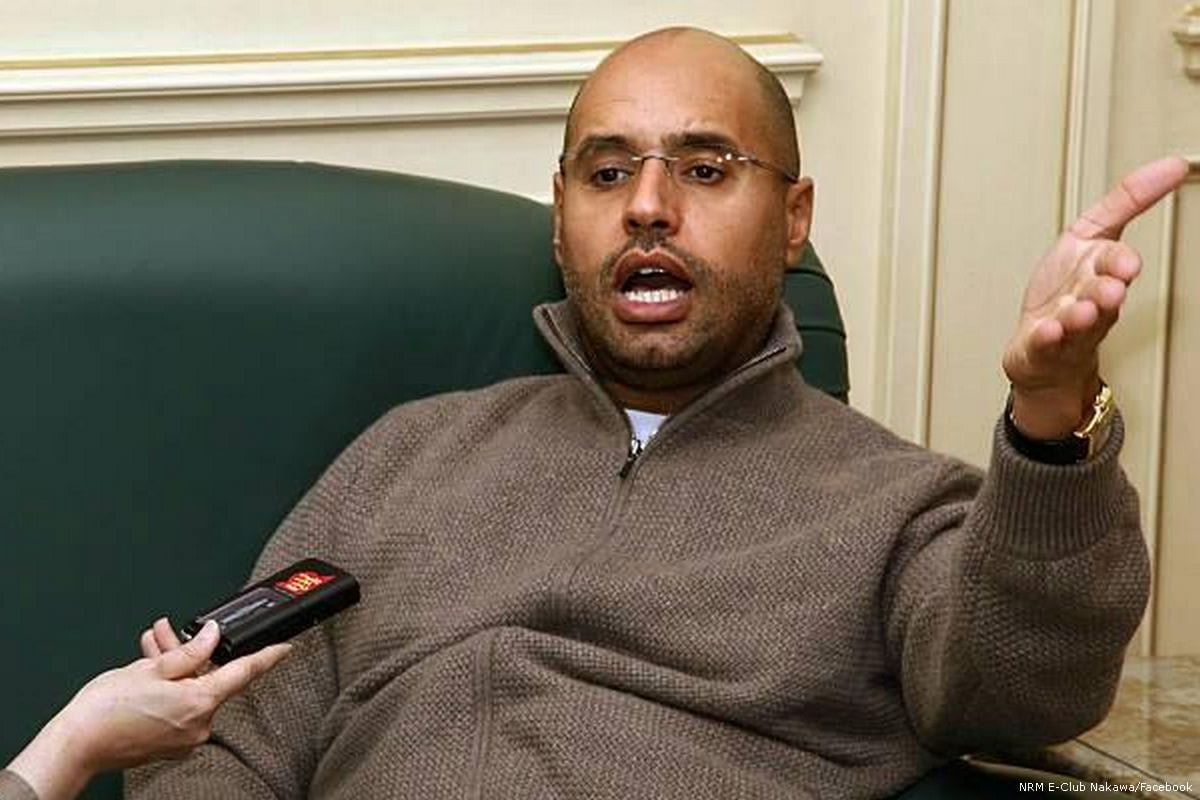 Former Libyan leader Muammar Gaddafi's son, Saif Al-Islam [NRM E-Club Nakawa/Facebook]