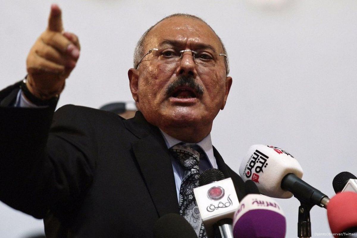 Former Yemeni president, Ali Abdullah Saleh [DplmtcObserver/Twitter]