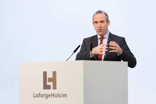 Eric Olsen, CEO of LafargeHolcim and Chairman of the Steering Committee of the LafargeHolcim Foundation [LafargeHolcim Foundation]