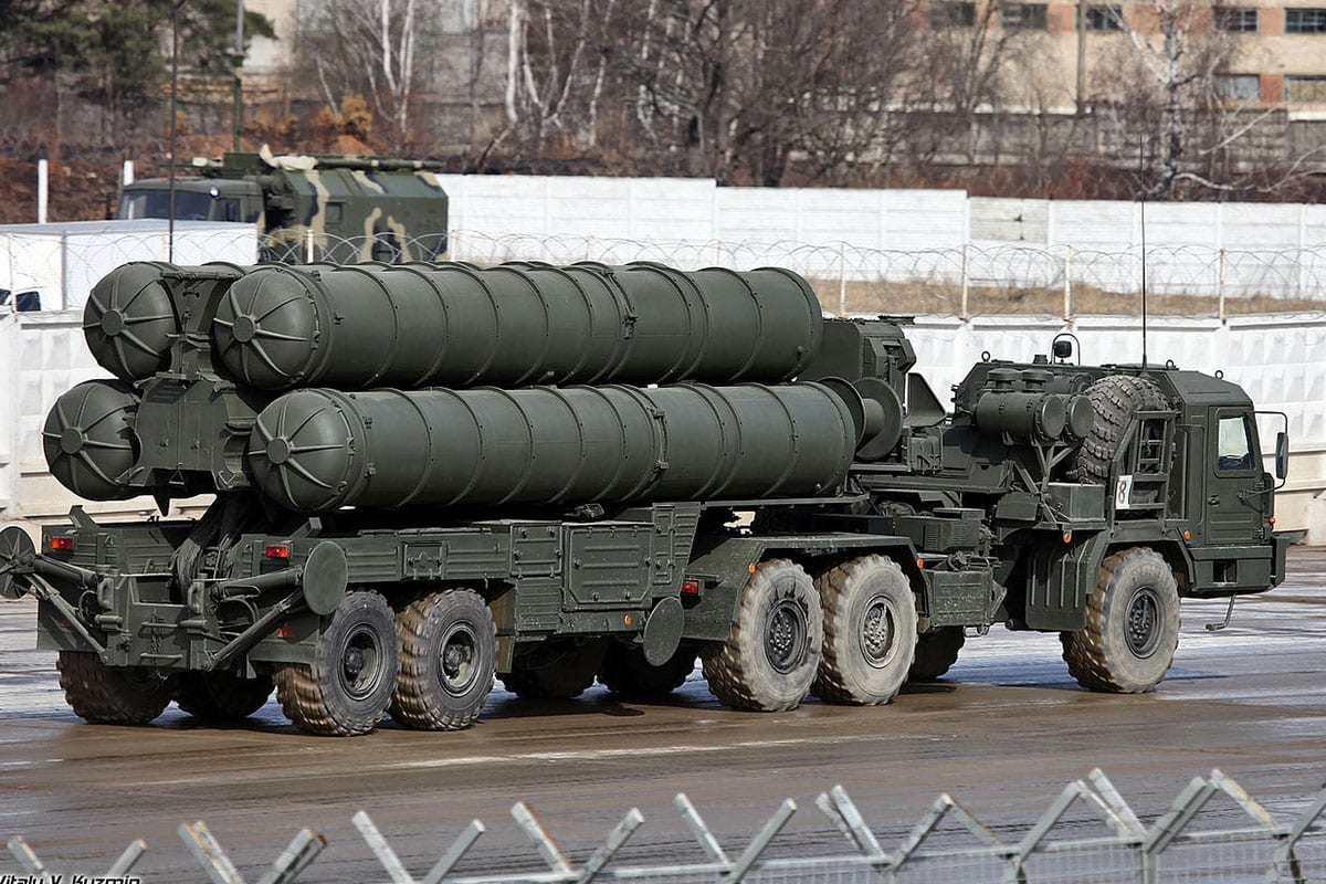 Russian S-400 air defence system, seen during a military parade in Moscow, Russia [Wikipedia]