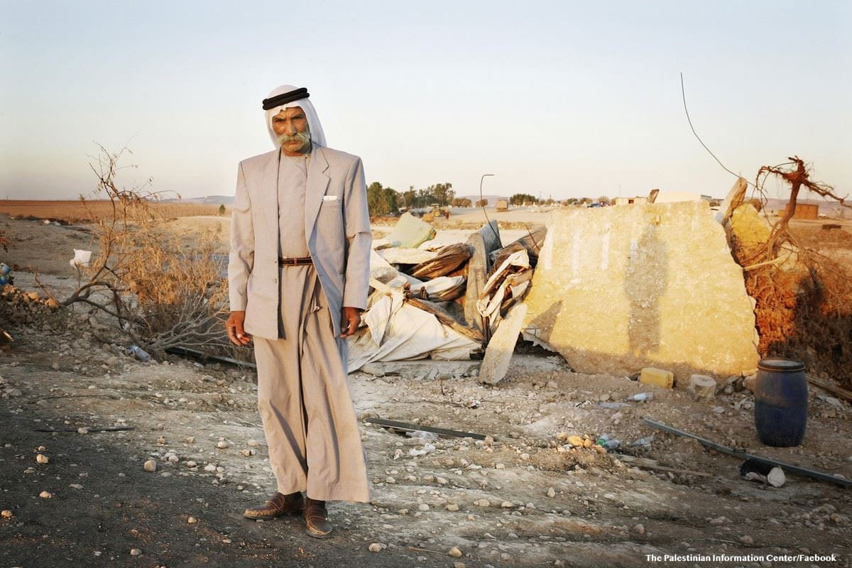 Sayah Al-Turi, the village leader of Al-Araqeeb [The Palestinian Information Center/Faebook]