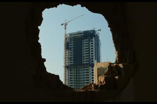Screen capture from the film 'Taste of Cement'