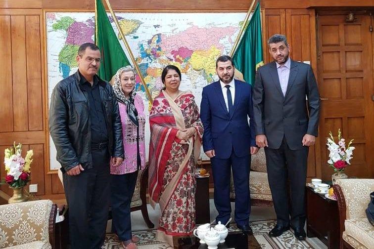 [left to right] Bouzid Chenouf, Yvonne Ridley, Shirin Sharmin Chaudhury, Yousef Adjissa & Mamdooh Kamal Ali Badawi