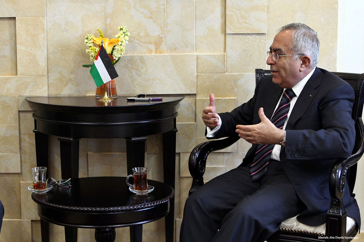 Palestine Liberation Organisation (PLO) Executive Committee member Wasel abu-Yousef [Mustafa Abu Dayeh/Apaimages]