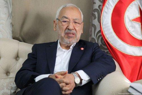 Leader of Ennahda Movement, Rashid al-Ghannushi in Tunis, Tunisia on 16 December 2017 [Mohamed Mdalla/Anadolu Agency]