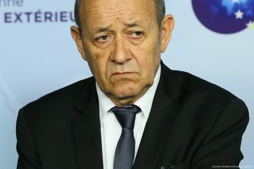 French Foreign Minister Jean-Yves Le Drian on 11 January 2018 [Dursun Aydemir/Anadolu Agency]