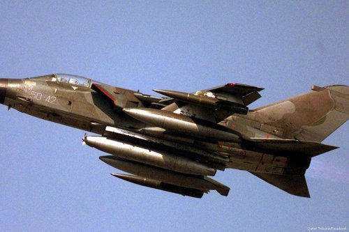 File photo of a fighter jet of the Royal Saudi Air Force [Qatar Tribune/Facebook]