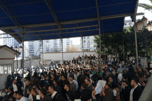 Police clash with doctors protesting in Algiers on 3 January, 2017