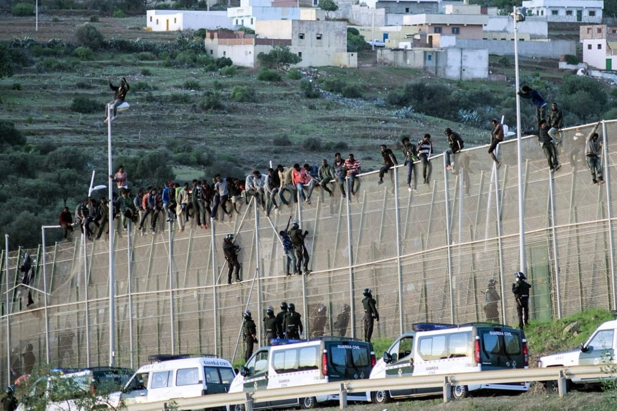 300 migrants storm heavily fortified border between Morocco, Spain