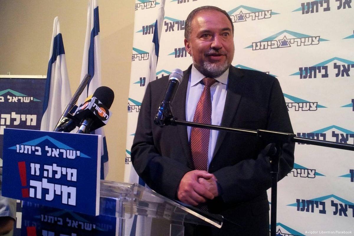 Israeli Defence Minister Avigdor Lieberman [Avigdor Liberman/Facebook]