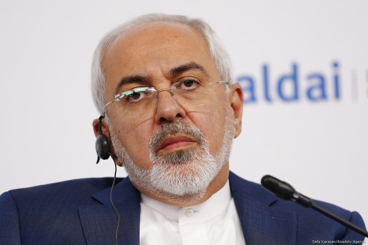 Iranian Foreign Minister Javad Zarif speaks during the Valdai Discussion Club titled ''Russia in the Middle East: Playing on All Fields'' in Moscow, Russia on 19 February, 2018 [Sefa Karacan/Anadolu Agency]