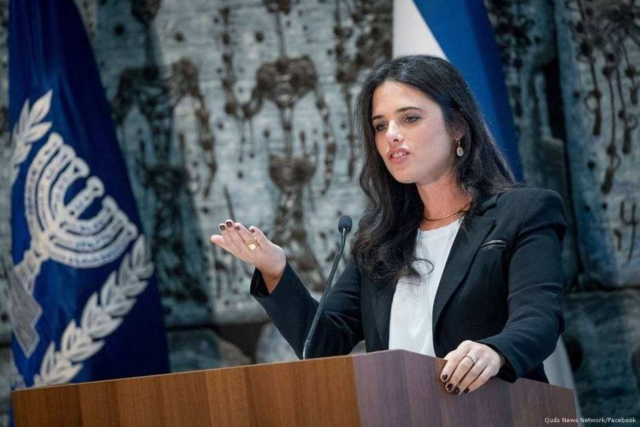 Ayelet Shaked, Israel's Justice Minister of the far-right Jewish Home party [Quds News Network/Facebook]