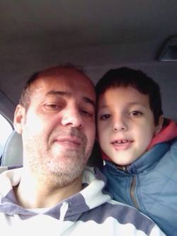 Gina Davis' estranged husband Kamel Fekkar and son Hamza in Algeria [Image: Gina Davis]