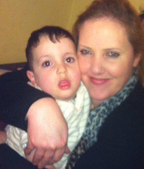 Gina Davis and her son Hamza, who was 4 years old when his father Kamel Fekkar took him to Algeria [Image: Gina Davis]