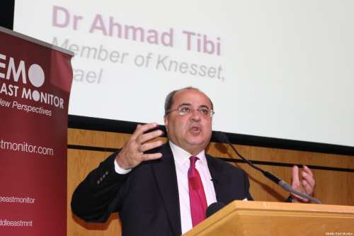Dr Ahmad Tibi seen at Middle East Monitor's 'Jerusalem: Legalising the Occupation' conference in London, UK on March 3, 2018 [Jehan Alfarra/Middle East Monitor]