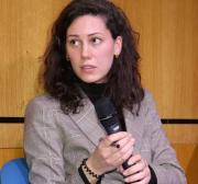 Amelia Smith seen at Middle East Monitor's 'Jerusalem: Legalising the Occupation' conference in London, UK on 3 March, 2018 [Jehan Alfarra/Middle East Monitor]