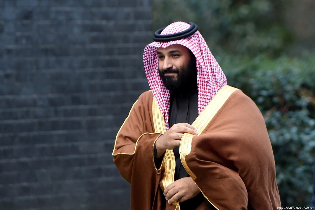 The Crown Prince of Saudi Arabia Mohammad Bin Salman Al-Saud arrives at No.10 Downing street in London, United Kingdom on 7 March, 2018. [Kate Green/Anadolu Agency]