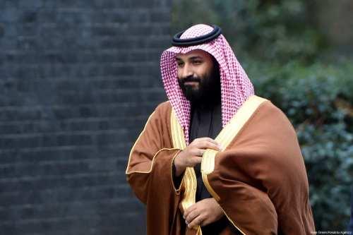 The Crown Prince of Saudi Arabia Mohammad Bin Salman Al-Saud arrives at No.10 Downing street in London, United Kingdom on 7 March, 2018. [Kate Green/Anadolu Agency]
