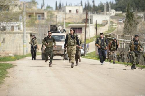 Turkish forces and Syrian allies drive Kurds from Afrin town