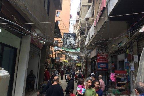The streets among a Palestinian refugee camp in Beirut, Lebanon [Professor Kamel Hawwash]