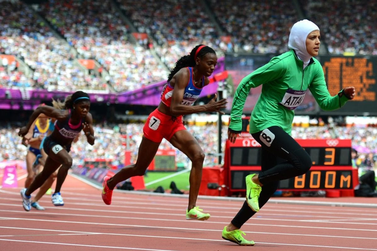 Sarah Attar, the 23-year-old Saudi Arabian runner, seen at the London Olympics in 2012. She was the first female athelete representing Saudi Arabia at the international competition