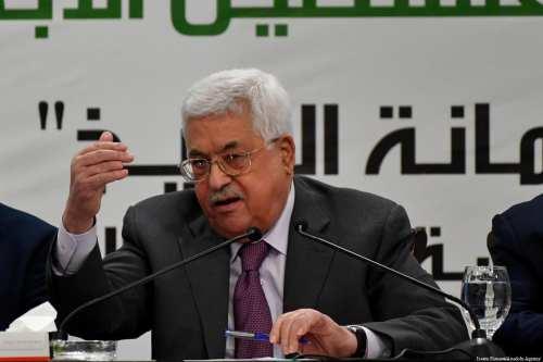 Palestinian President Mahmoud Abbas in Ramallah, West Bank on 11 April 2018 [Issam Rimawi/Anadolu Agency]