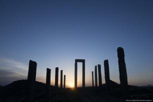 A view of Australian sculpture Andrew Rogers' land art work 'A Day On Earth' in Cappadocia region, Kayseri, Turkey on 20 April 2018 [Sercan Küçükşahin/Anadolu Agency]