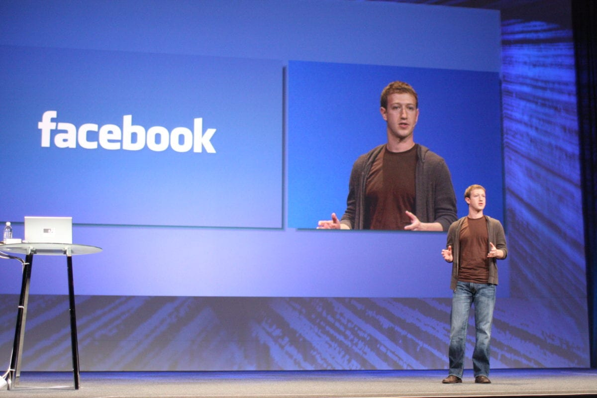 Mark Zuckerberg seen delivering the keynote at the 2008 Facebook Developers' Conference, f8, on July 23, 2008 [Brian Solis / briansolis.com]