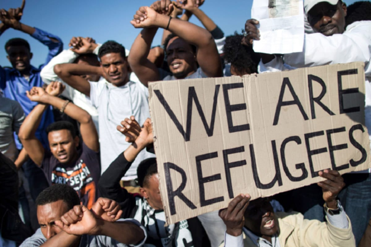 African asylum seekers in Israel demonstrating against their planned deportation [FlickR]