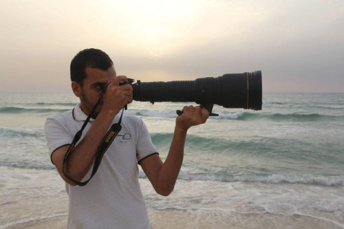 Gazan video journalist and photographer Yaser Murtaja, killed by Israeli snipers despite wearing a vest marked 'PRESS', while covering the The Great March of Return on April 6, 2018