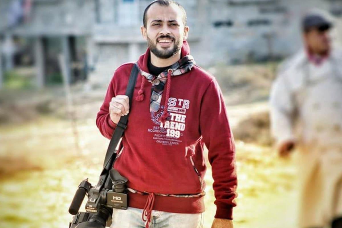Palestinian journalist Ahmed Abu Hussein [Twitter]
