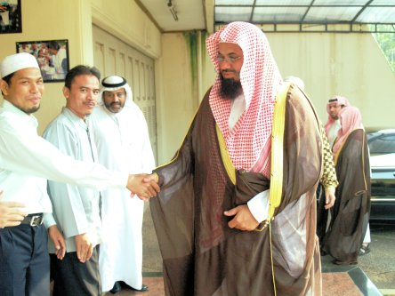 Sheikh Saud Al-Shuraim, one of the Imams in the Grand Mosque in Makkah