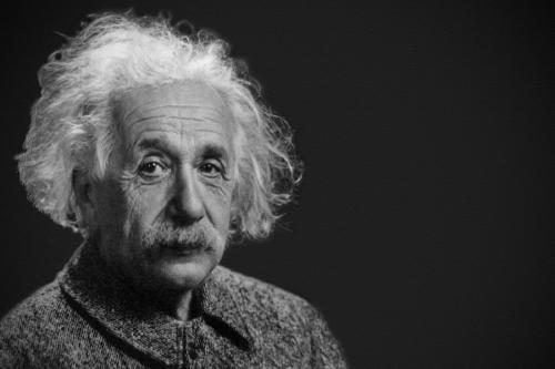 Albert Einstein, a German-born theoretical physicist [Wikipedia]