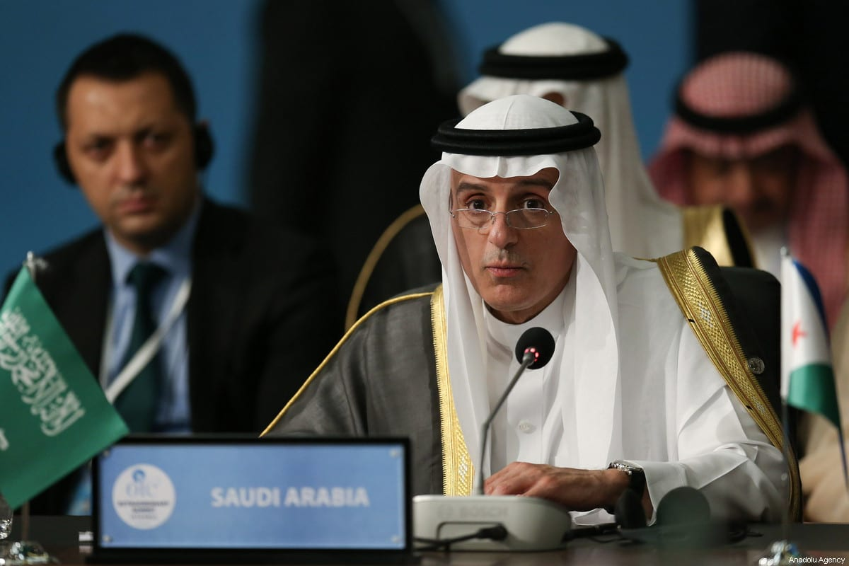 Minister of Foreign Affairs of Saudi Arabia Adel al-Jubeir in Istanbul, Turkey on 18 May 2018 [Arif Hüdaverdi Yaman/Anadolu Agency]