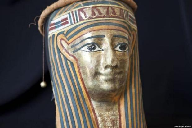 A few of the Egyptian artefacts that were seized by Italy after they were smuggled out of Egypt [Ministry of Antiquities]
