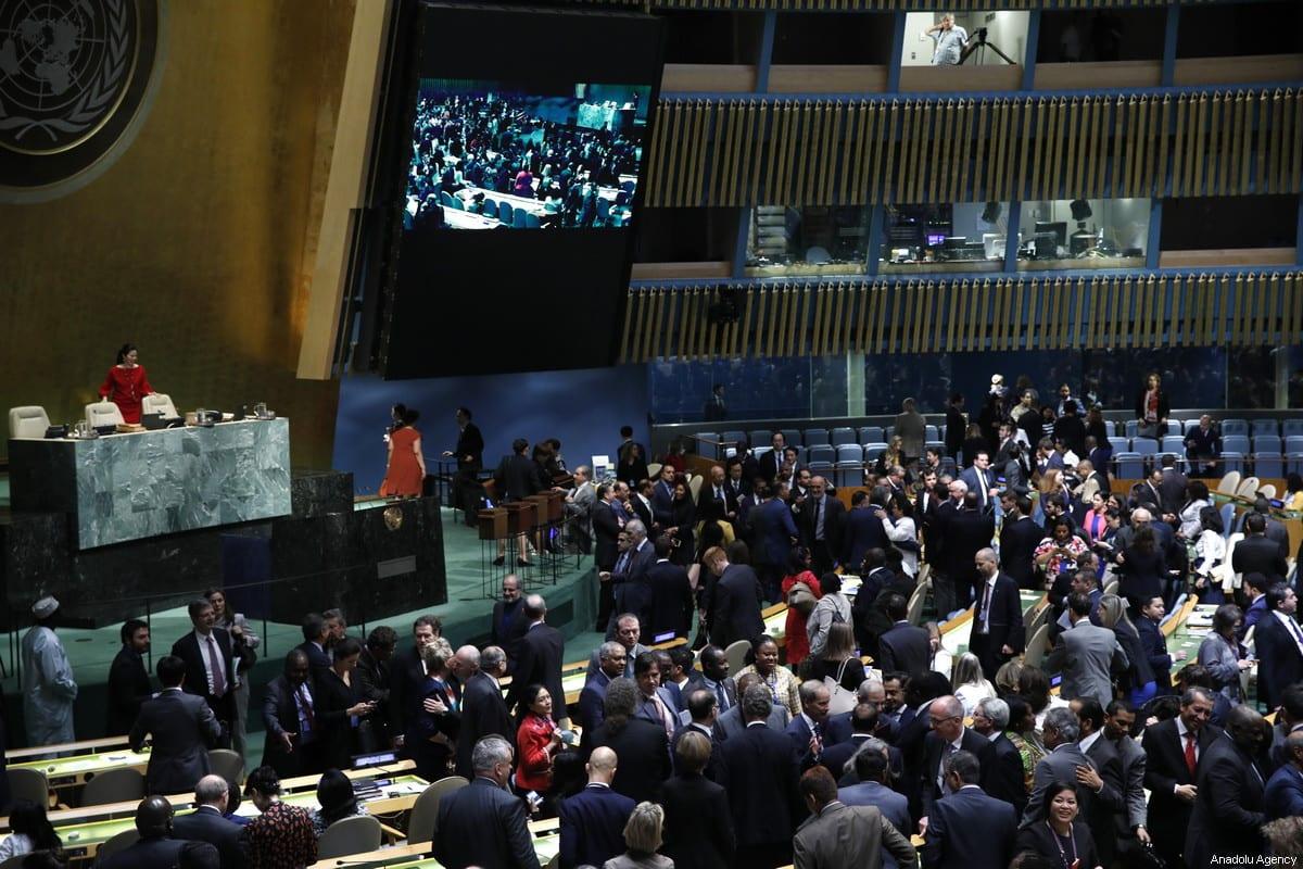The United Nations General Assembly in New York, New York, USA, 08 June 2018 [Atılgan Özdil - Anadolu Agency]