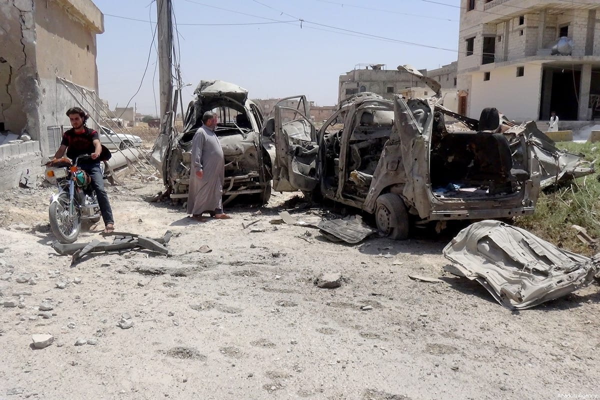 Destroyed vehicles are seen after Assad Regime forces carried out an airstrike over a children's hospital, located at de-escalation zone Taftanaz town of Idlib, Syria on June 10, 2018. ( Ibrahim Hatip - Anadolu Agency )Destroyed vehicles are seen after Assad Regime forces carried out an airstrike over a children's hospital, located at de-escalation zone Taftanaz town of Idlib, Syria on June 10, 2018. ( Ibrahim Hatip - Anadolu Agency )