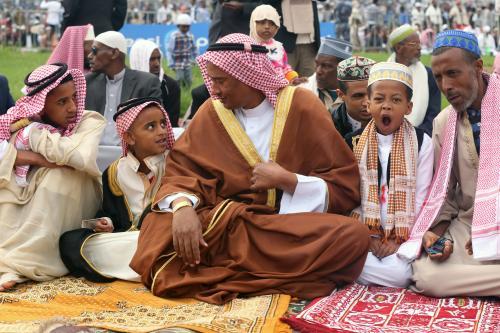 Muslims gather to perform Eid al-Fitr prayer at the Stadium in Addis Ababa, Ethiopia on 15 June, 2018 [Minasse Wondimu Hailu/Anadolu Agency]