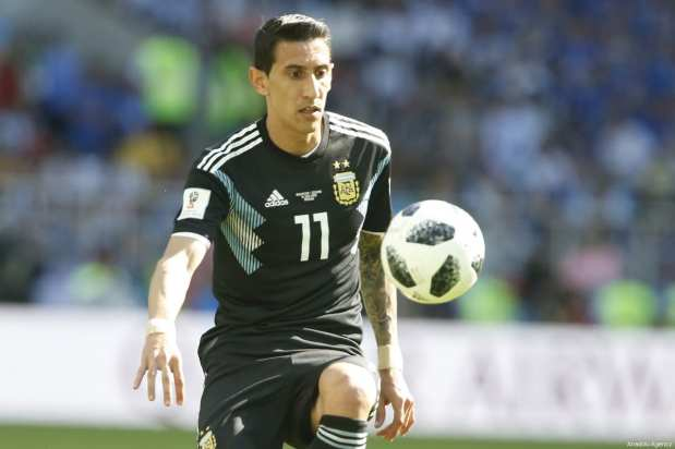 Angel Di Maria of Argentina is seen during the 2018 FIFA World Cup Russia Group D match between Argentina and Iceland at Spartak Stadium on June 16, 2018 in Moscow, Russia. ( Sefa Karacan - Anadolu Agency )