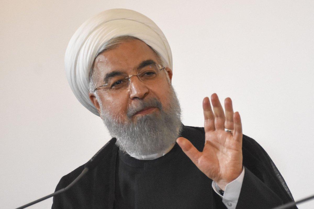 Iranian President Hassan Rouhani speaks during a join press conference with Austrian Prime Minister Sebastian Kurz (not seen) after their meeting in Vienna, Austria on 4 July, 2018 [Aşkın Kıyağan/Anadolu Agency]