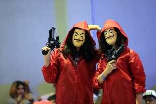 Participants are seen during the 'Comic Con Tunisia 2018' fair in Tunis, Tunisia on 11 June, 2018 [Yassine Gaidi/Anadolu Agency]