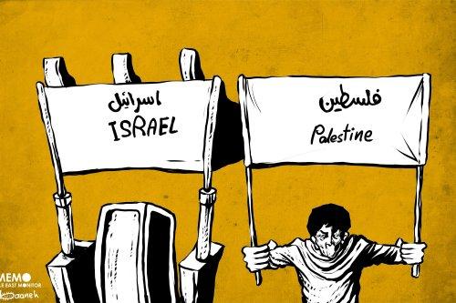 Israel's demolition of Al-Khan Al-Ahmar - Cartoon [Sabaaneh/MiddleEastMonitor]